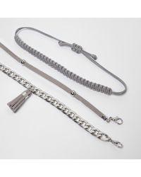 River Island | Metallic Silver Tone Tassel Bracelet Pack | Lyst