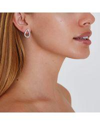River Island - Metallic Silver Tone Teardrop Stud Earrings - Lyst