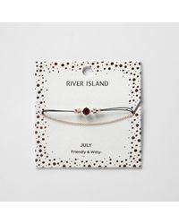 River Island - Red July Birthstone Chain Bracelet - Lyst