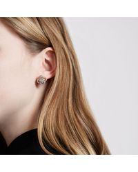 River Island - Metallic Gold Tone Diamante Quatrefoil Earrings - Lyst