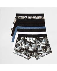 River Island - Blue Bird Print Hipster Multipack for Men - Lyst