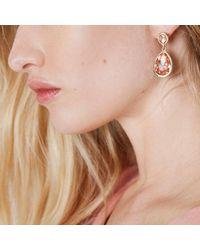 River Island - Metallic Gold Tone Peach Teardrop Dangle Earrings - Lyst