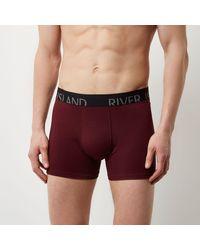 River Island - Red Ri Branded Trunks Multipack for Men - Lyst