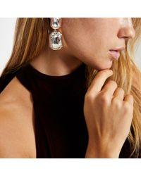 River Island - Metallic Rose Gold Tone Crystal Jewel Stud Earrings - Lyst