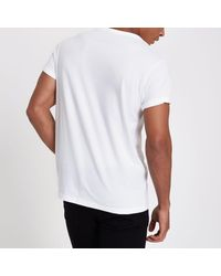 River Island - White Rolled Sleeve Pocket T-shirts Multipack for Men - Lyst