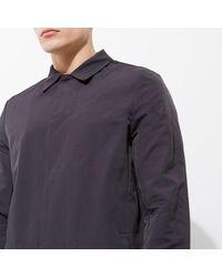 River Island - Blue Navy Smart Mac Coat for Men - Lyst