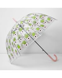 River Island - Multicolor Cactus Print Dome Umbrella - Lyst