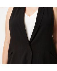 River Island - Plus Black Sleeveless Cut-out Tux Jacket - Lyst