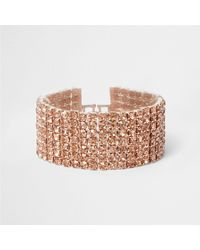 River Island - Multicolor Rose Gold Tone Cup Chain Bracelet Rose Gold Tone Cup Chain Bracelet - Lyst