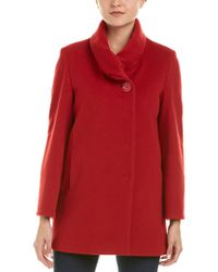 Cinzia Rocca Red Icons Wool & Cashmere-blend Coat