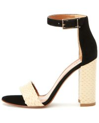 Aquatalia - Black Sasha Waterproof Leather Sandal - Lyst