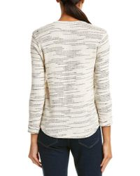 Splendid - White Knit Henley - Lyst