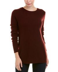 Autumn Cashmere - Red Reversible Crossover Cashmere Sweater - Lyst