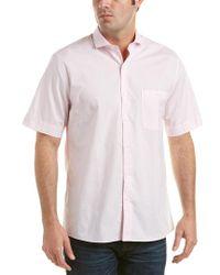 Raffi Pink Modern Fit Woven Shirt for men