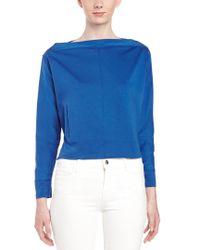 L.A.M.B. - Blue Knit Pullover Shirt - Lyst