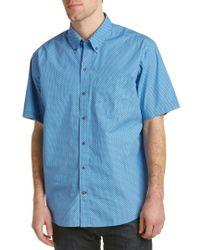 Cutter & Buck - Blue Midnight Woven Shirt for Men - Lyst