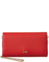 b5e2a004832 Christian Louboutin. Women's Red Boudoir Leather Chain Wallet. See more Leather  Shoulder bags.