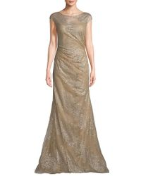 Rene Ruiz - Multicolor Embellished Mermaid Gown - Lyst