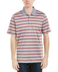 Cutter & Buck - Red Oasis Mercerized Stripe Polo Shirt for Men - Lyst