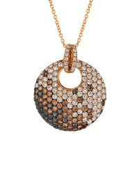 Le Vian - Metallic ? 14k Rose Gold 2.08 Ct. Tw. Diamond Necklace - Lyst