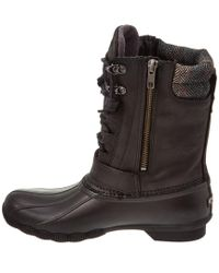 Sperry Top-Sider - Black Saltwater Misty Leather Boot - Lyst