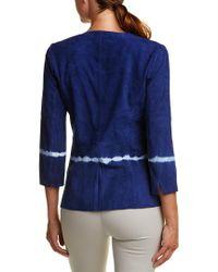 Ecru - Blue Suede Jacket - Lyst