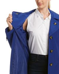 London Fog - Blue Trench Coat - Lyst
