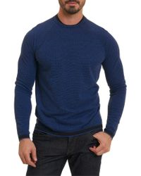 Robert Graham - Blue Ray Brook Classic Fit Wool Sweater for Men - Lyst