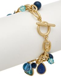 Carolee - Multicolor True Blue 12k Plated Flex Bracelet - Lyst