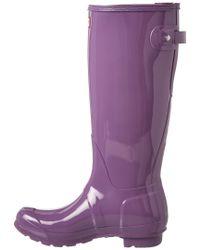 Hunter - Purple Women's Original Adjustable Gloss Boot - Lyst