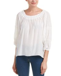Moon River - White Tucked Top - Lyst