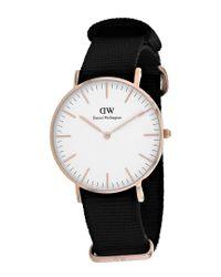 Daniel Wellington - Black Women's Cornwall Watch - Lyst