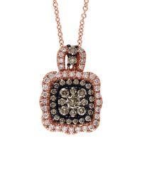 Effy - Multicolor Fine Jewelry 14k Rose Gold 0.79 Ct. Tw. Diamond Necklace - Lyst