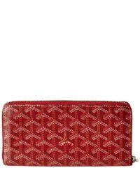 Goyard - Red Ine Canvas Matignon Zip Around Long Wallet - Lyst
