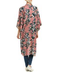 Splendid - Pink Kimono Cardigan - Lyst