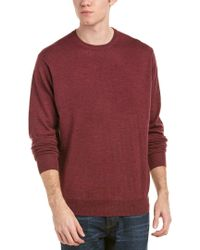 Peter Millar - Red Crown Soft Merino Wool & Silk-blend Crewneck Sweater for Men - Lyst