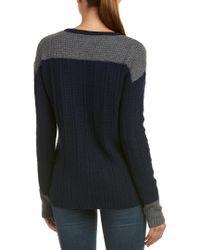 Velvet By Graham & Spencer - Blue Michaela Wool-blend Sweater - Lyst
