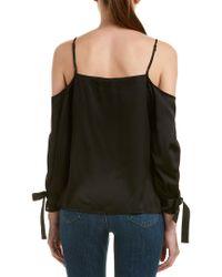 Kensie Black Cold-shoulder Top