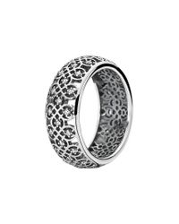 Pandora Metallic Silver Cz Lattice Ring