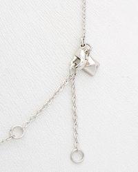 Rebecca Minkoff - Multicolor Crystal Triangle Necklace - Lyst