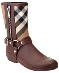 Burberry | Brown House Check Rainboot | Lyst