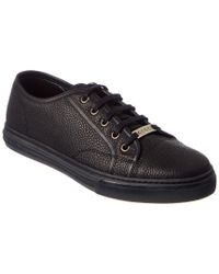 Gucci | Black Leather Sneaker for Men | Lyst