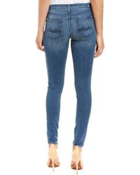 7 For All Mankind - 7 For All Mankind Gwenevere Rich Blue Orchid Skinny Leg - Lyst