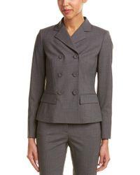 Lafayette 148 New York - Gray Eleanor Modern Fit Wool-blend Jacket - Lyst
