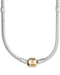 Pandora - Metallic 14k & Silver Charm Necklace - Lyst