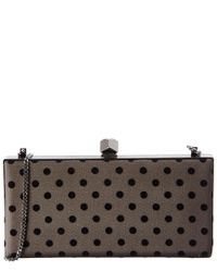 Jimmy Choo - Black Celeste Polka Dot Clutch - Lyst