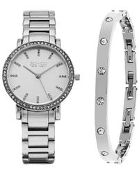 SO & CO Metallic So&co Women's Madison Crystal Watch