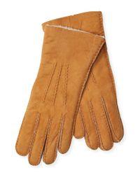 Maison Fabre - Multicolor Mouton Trim Gloves - Lyst