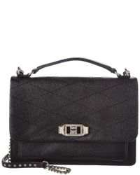 Rebecca Minkoff - Black Je T'aime Medium Leather Crossbody - Lyst