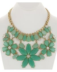 Sparkling Sage - Green 14k Plated Resin Necklace - Lyst